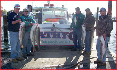 Bunky 39 s charter boats trophy season opening day 2005 on for Solomons island fishing report